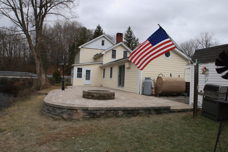 Finished Unilock patio in Poughquag, NY